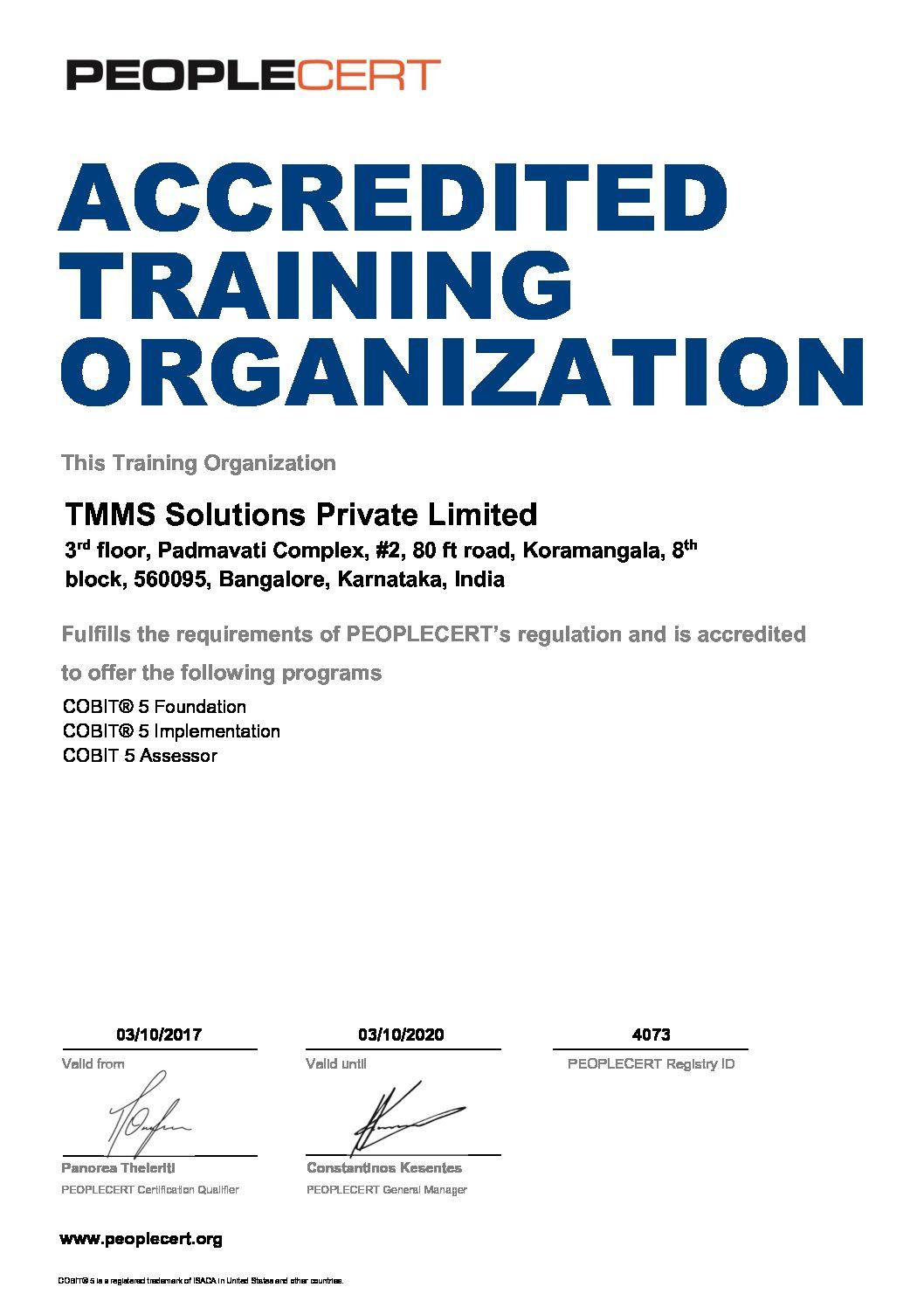Cobit Training Cobit Certification